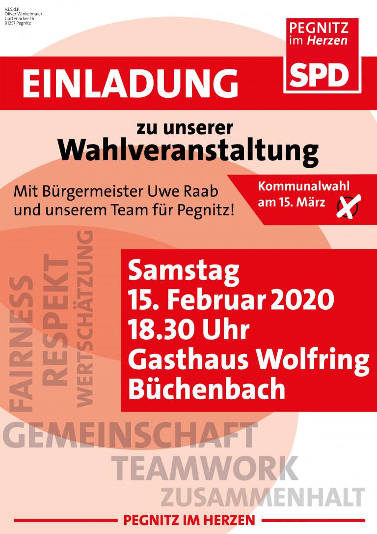 Wahlveranstaltung Büchenbach 2020