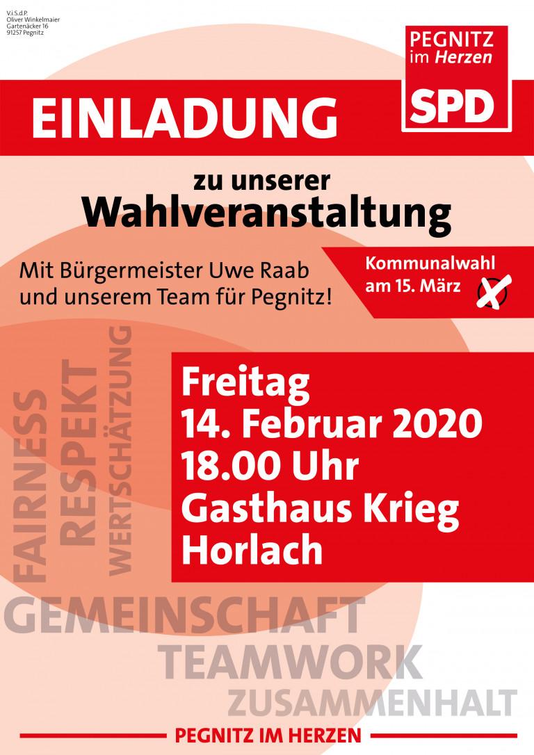 Wahlveranstaltung Horlach 2020
